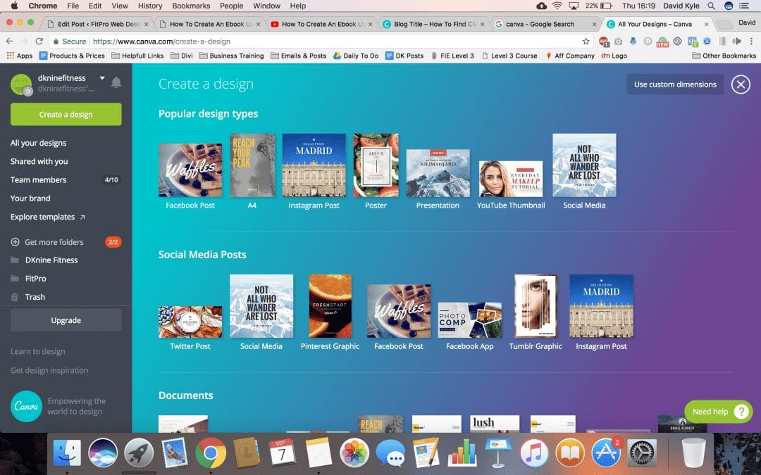 How To Create An Ebook Using Canva