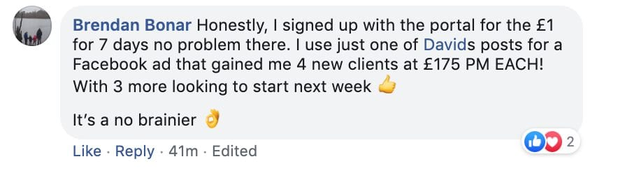 4 New Clients at £175pm Each ?