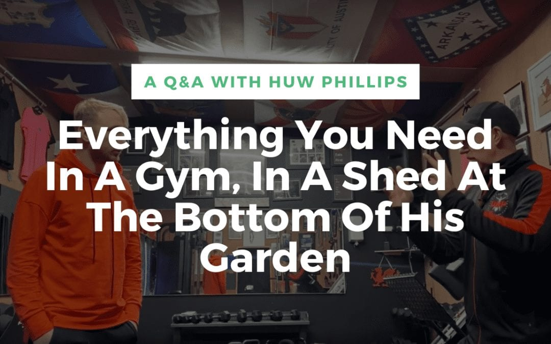 Everything You Need In A Gym, In A Shed At The Bottom Of His Garden