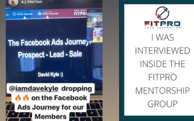 I was interviewed inside the Fitpro Mentorship Group 😱