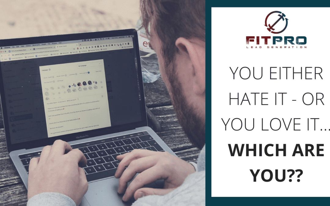 You either hate it – or you love it… Which are you??