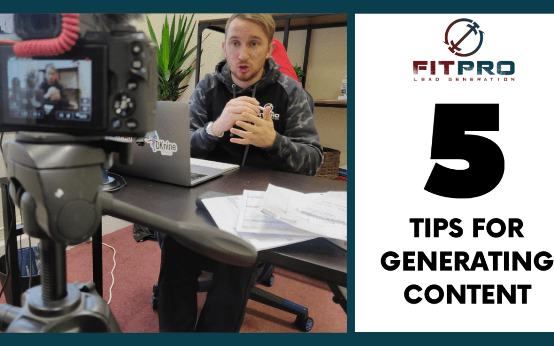 5 Tips for Generating Content