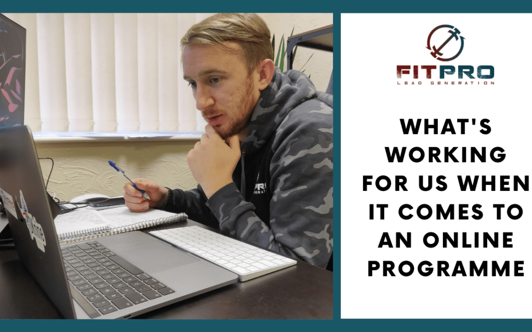 What's Working for us When it Comes to an Online Programme