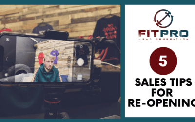 5 Sales Tips For Re-Opening