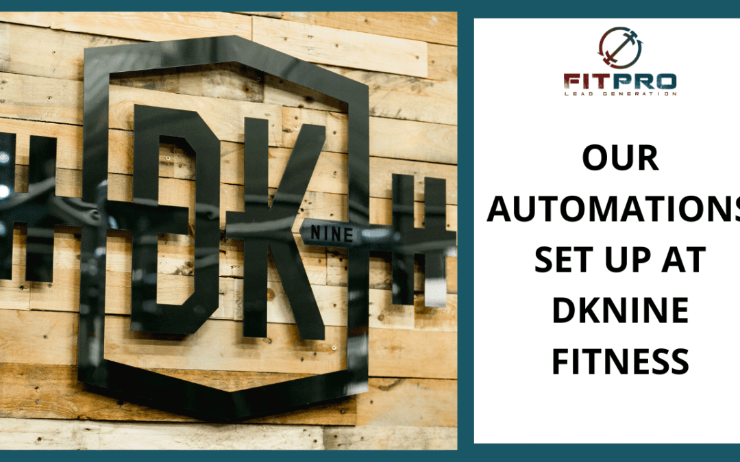 Our Automations Set Up At DKnine Fitness