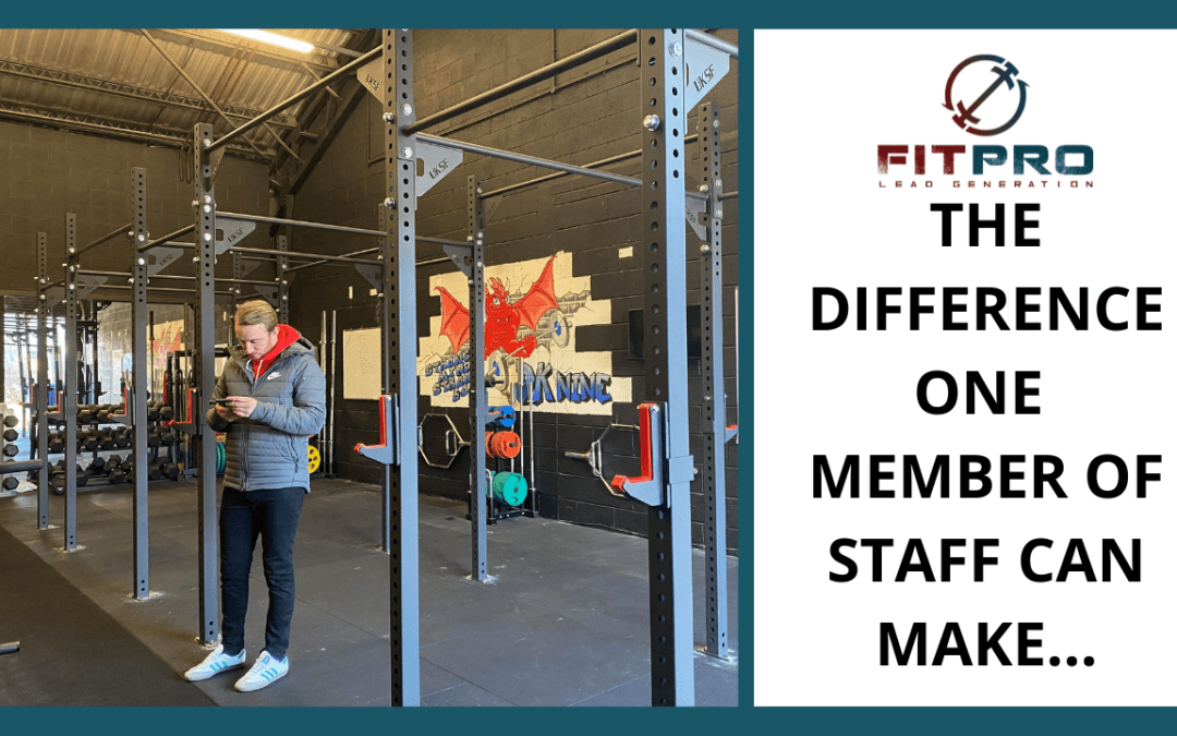 The Difference One Member Of Staff Can Make…